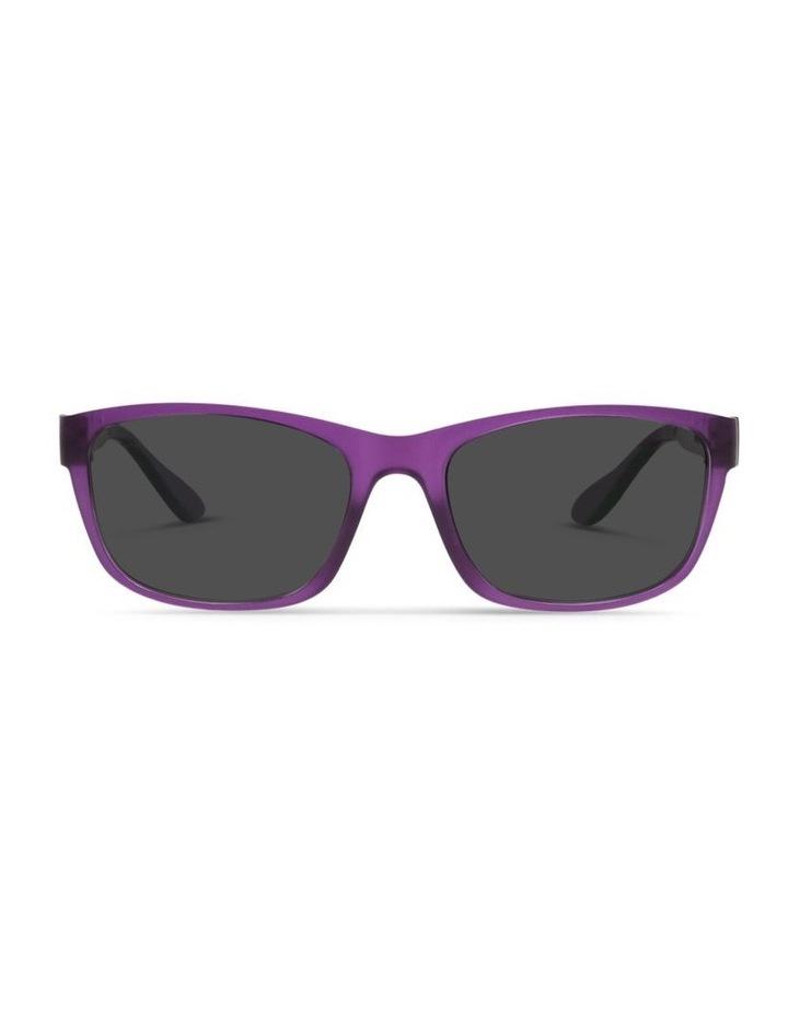 Royal Purple UV Protected Polarised with Grey Tint Rectangle Sunglasses image 1