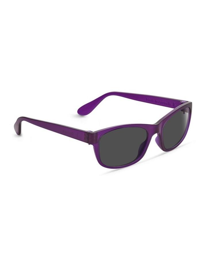 Royal Purple UV Protected Polarised with Grey Tint Rectangle Sunglasses image 2