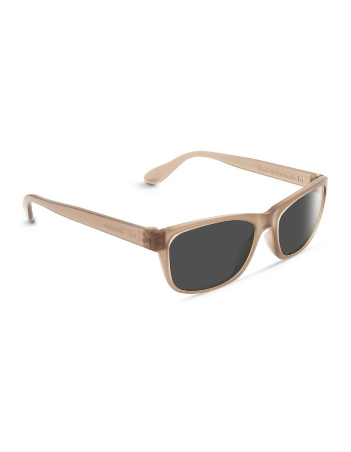 Sepia Brown UV Protected Polarised with Grey Tint Rectangle Sunglasses image 2
