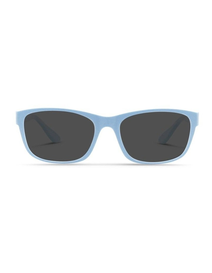 Sky Blue UV Protected Polarised with Grey Tint Rectangle Sunglasses image 1