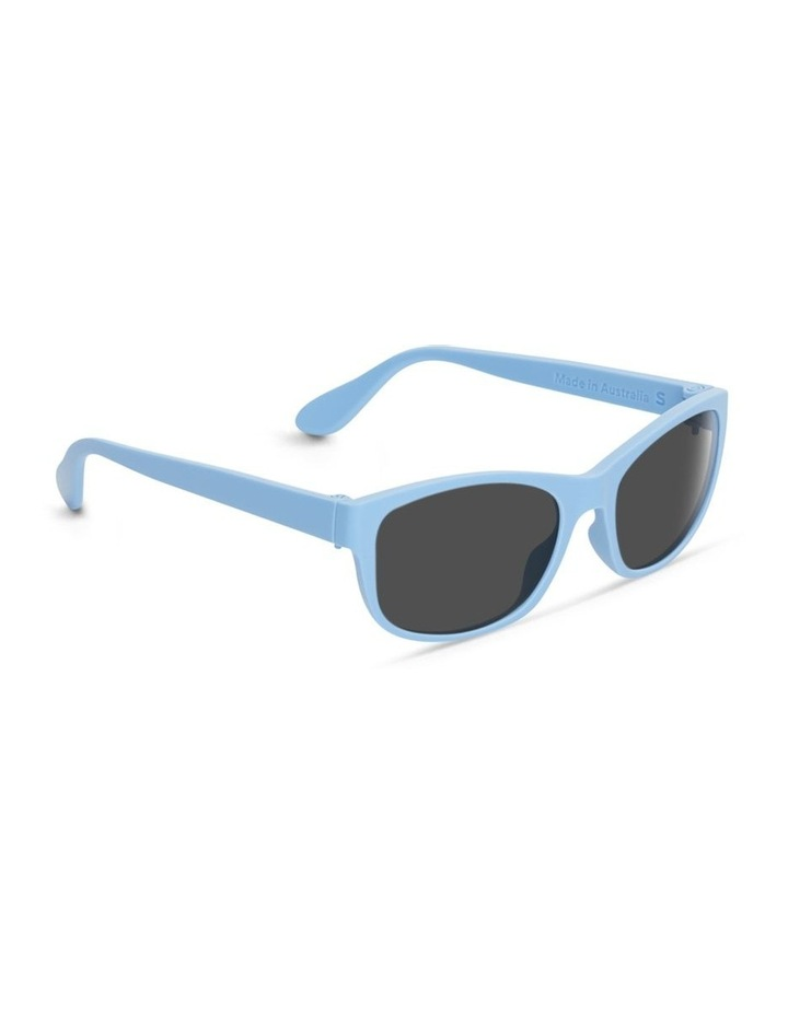 Sky Blue UV Protected Polarised with Grey Tint Rectangle Sunglasses image 2
