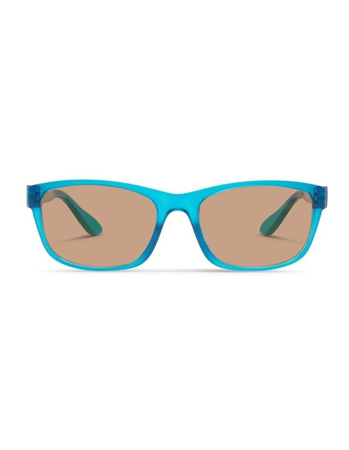 Azure Blue UV Protected Polarised with Brown Tint Rectangle Sunglasses image 1