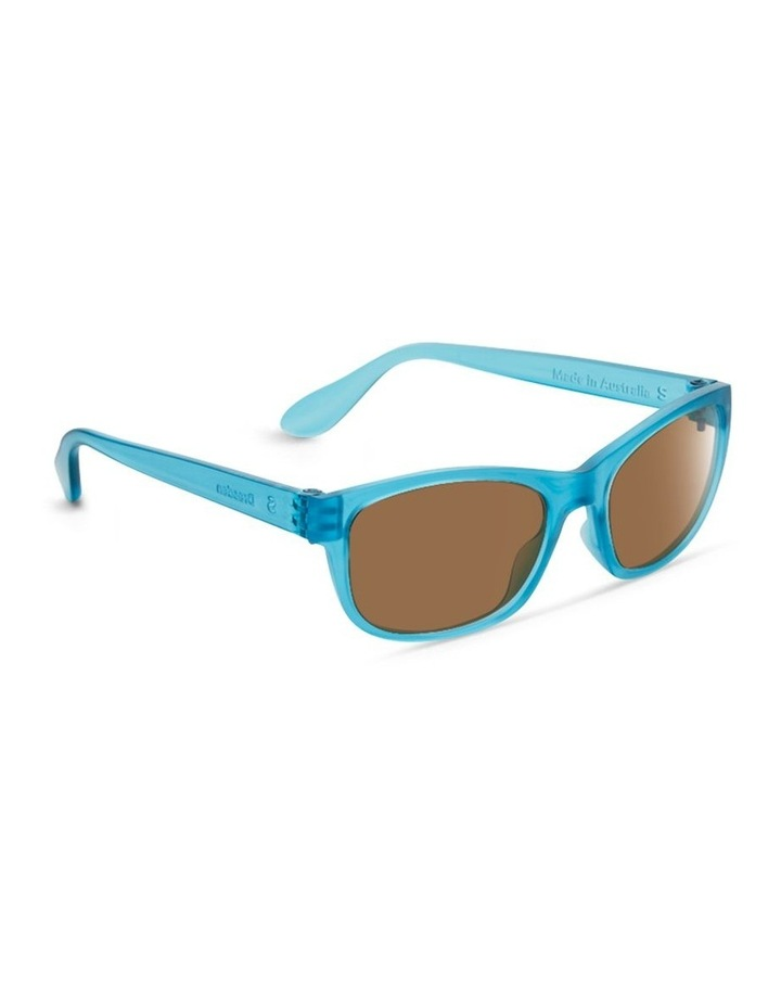 Azure Blue UV Protected Polarised with Brown Tint Rectangle Sunglasses image 2