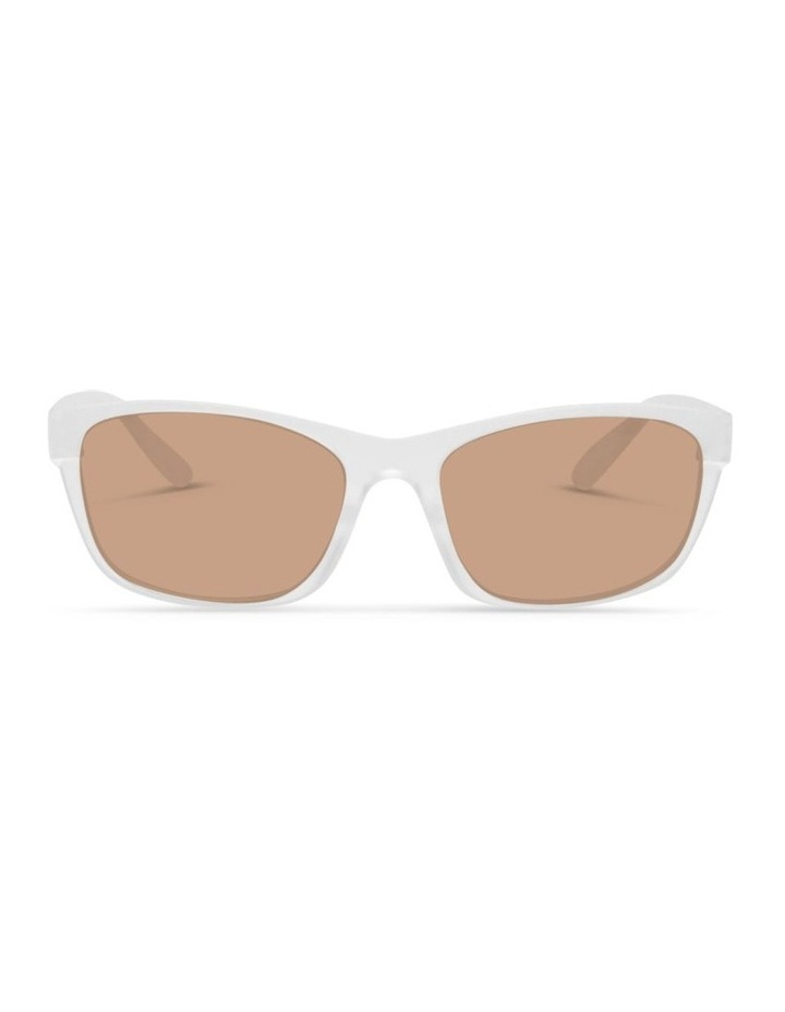 Clear Frost UV Protected Polarised with Brown Tint Rectangle Sunglasses image 1