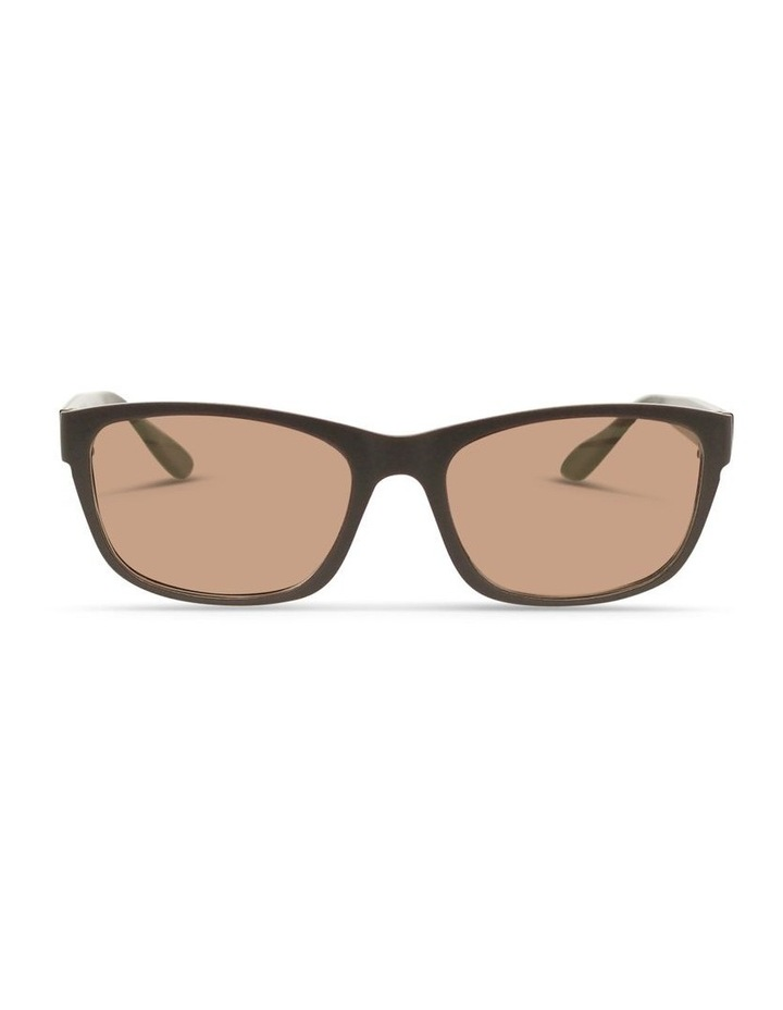 Dark Chocolate UV Protected Polarised with Brown Tint Rectangle Sunglasses image 1