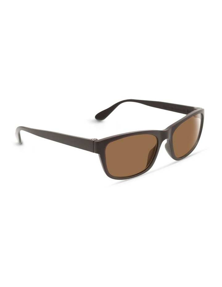 Dark Chocolate UV Protected Polarised with Brown Tint Rectangle Sunglasses image 2