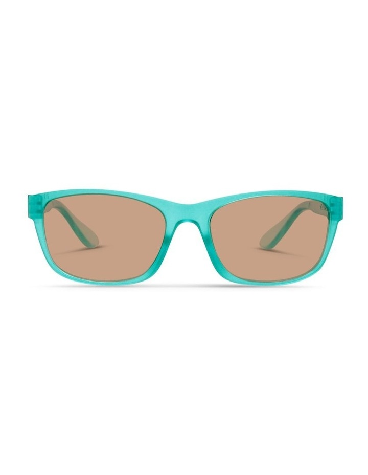 Ice Blue UV Protected Polarised with Brown Tint Rectangle Sunglasses image 1