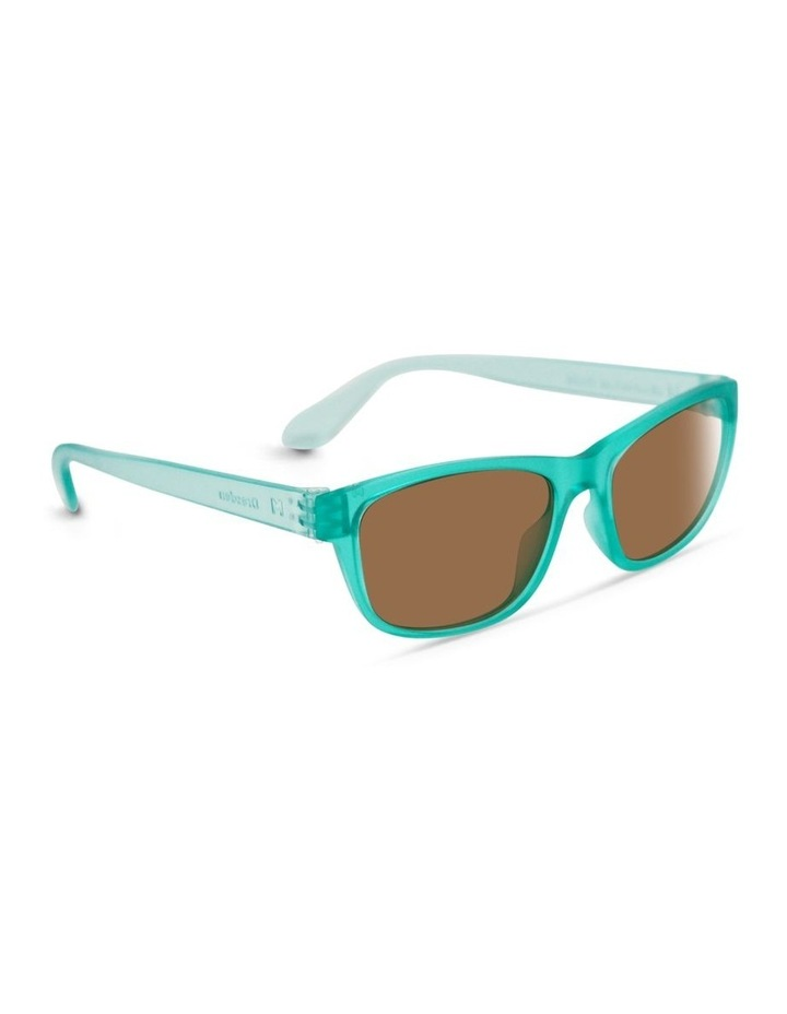 Ice Blue UV Protected Polarised with Brown Tint Rectangle Sunglasses image 2