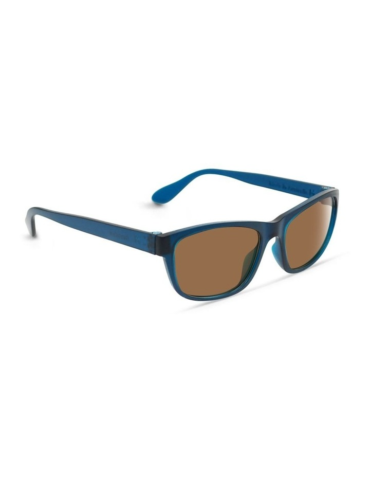 Midnight Blue UV Protected Polarised with Brown Tint Rectangle Sunglasses image 2