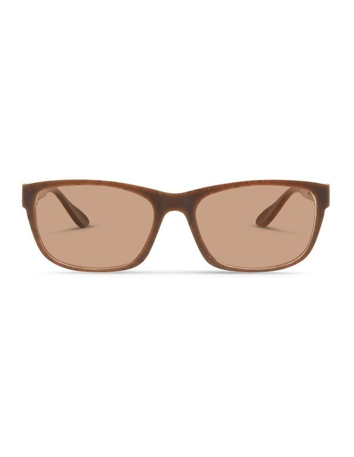 Recycled Brown UV Protected Polarised with Brown Tint Rectangle Sunglasses image 1