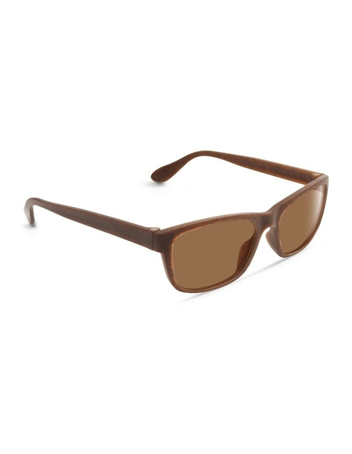Recycled Brown UV Protected Polarised with Brown Tint Rectangle Sunglasses image 2
