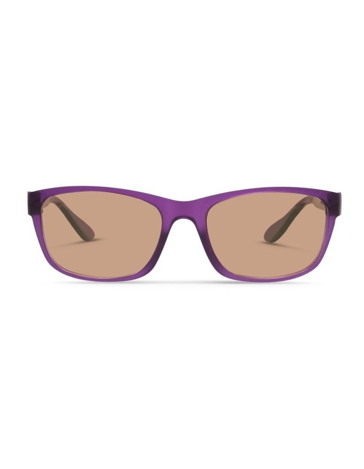 Royal Purple UV Protected Polarised with Brown Tint Rectangle Sunglasses image 1