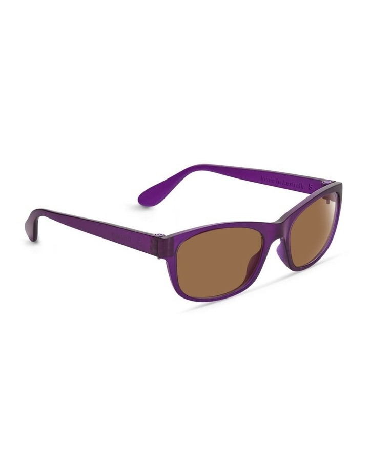 Royal Purple UV Protected Polarised with Brown Tint Rectangle Sunglasses image 2