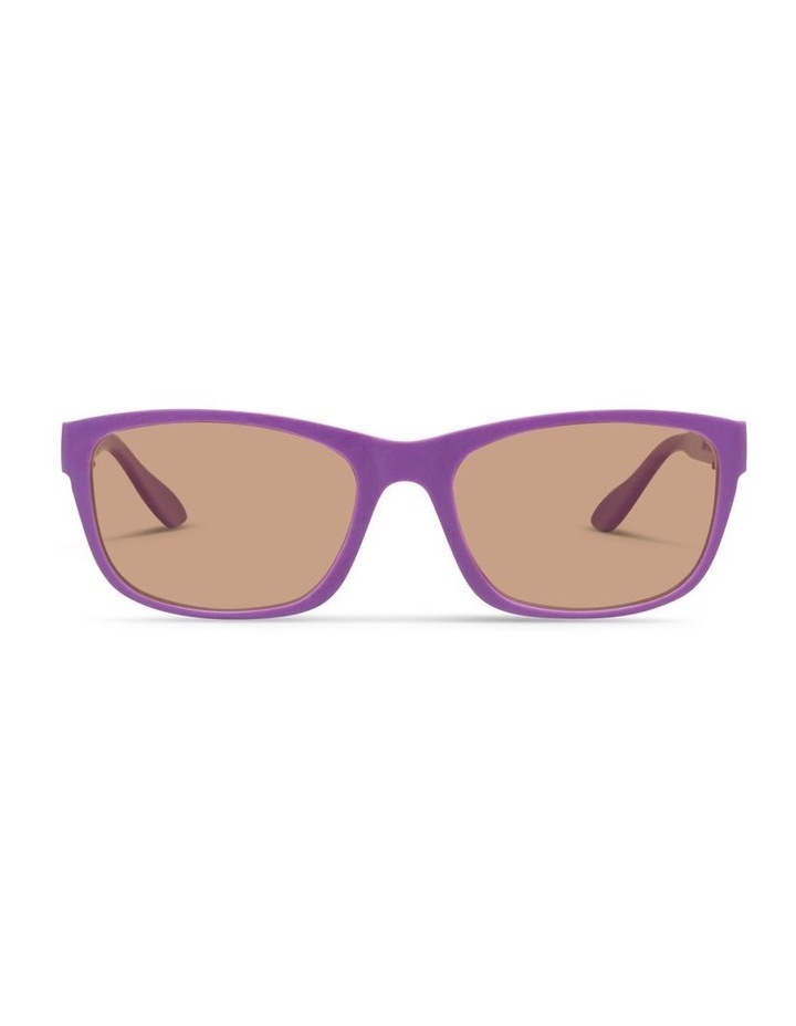 Violet UV Protected Polarised with Brown Tint Rectangle Sunglasses image 1