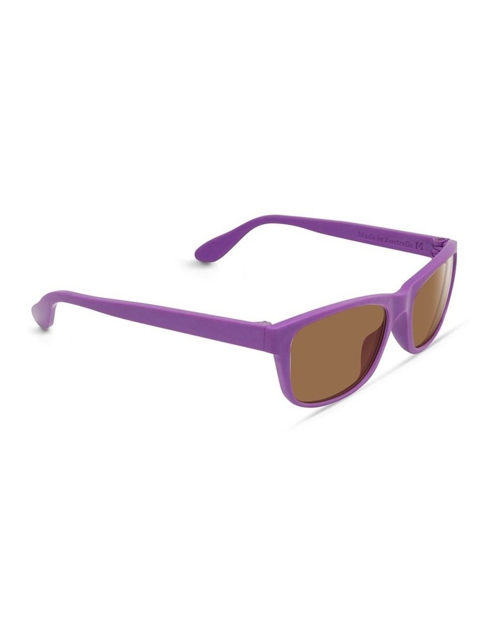 Violet UV Protected Polarised with Brown Tint Rectangle Sunglasses image 2