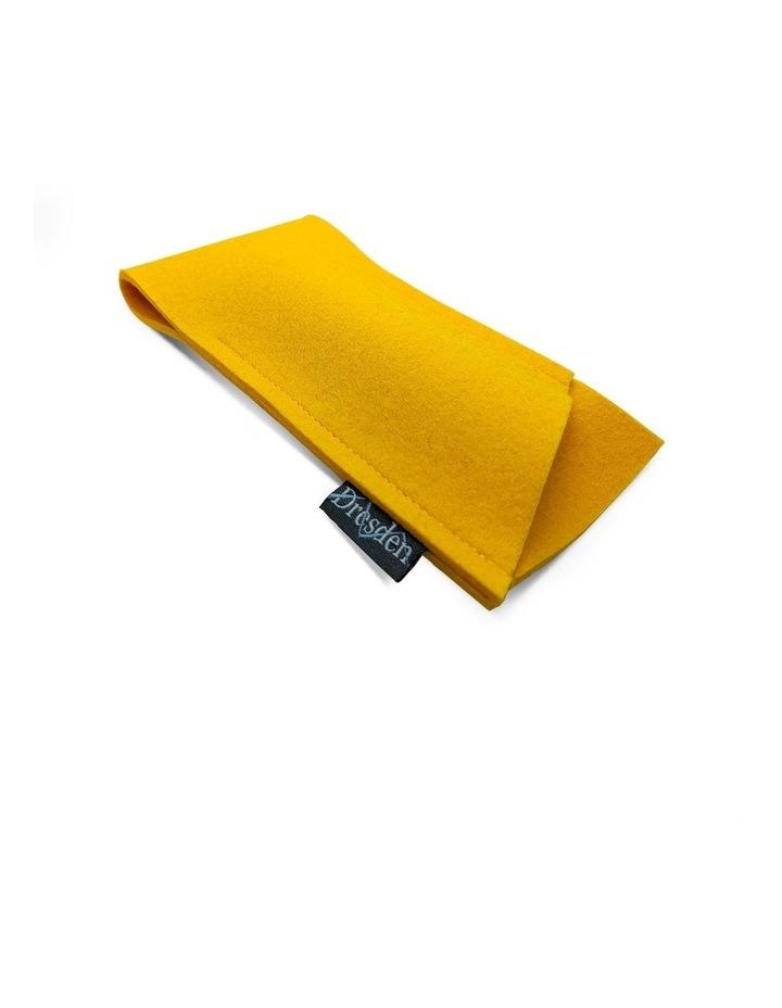Yellow Felt Glasses Case image 1