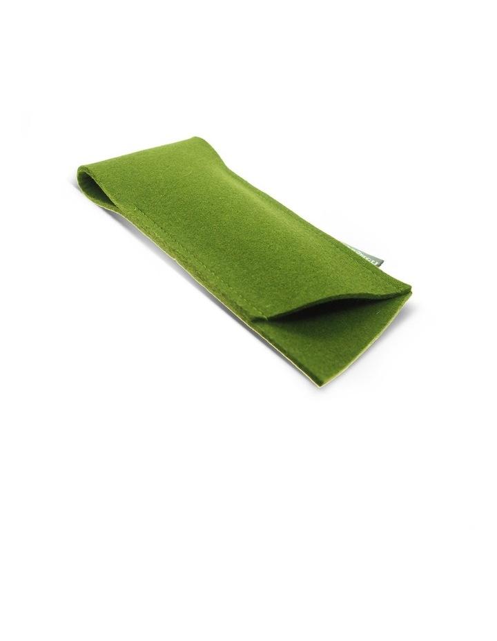 Bright Green Felt Glasses Case image 1