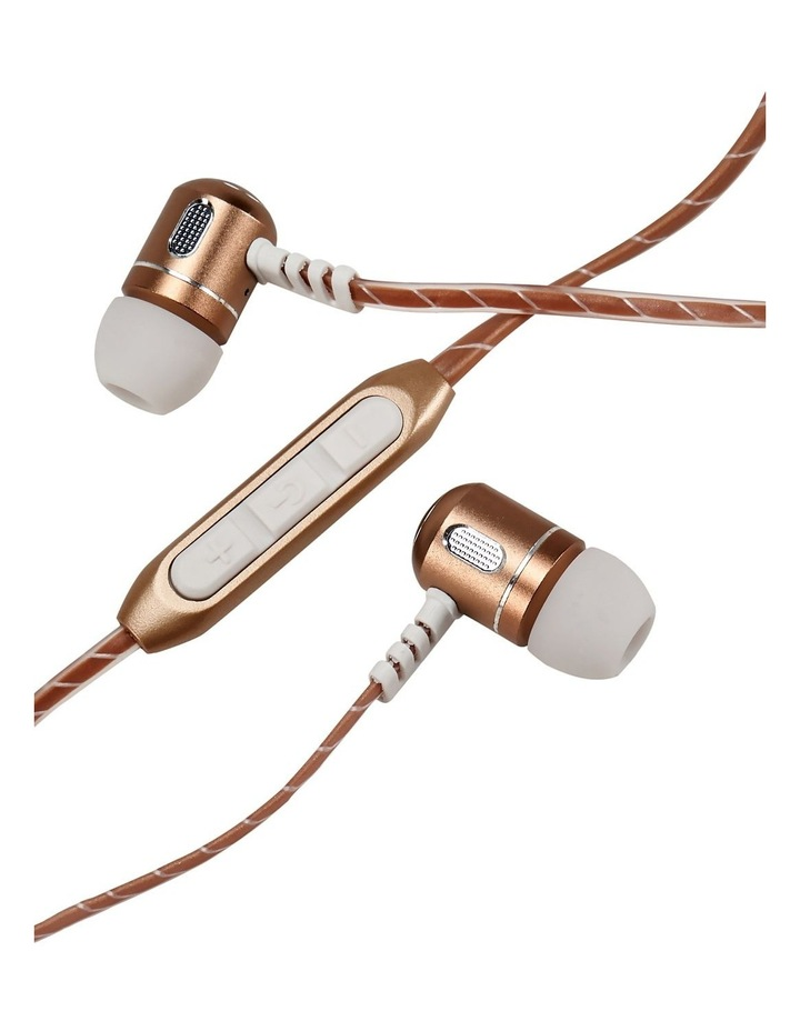 In-Ear Metal Bluetooth Earphones Rose Gold MZX148-GLD image 1