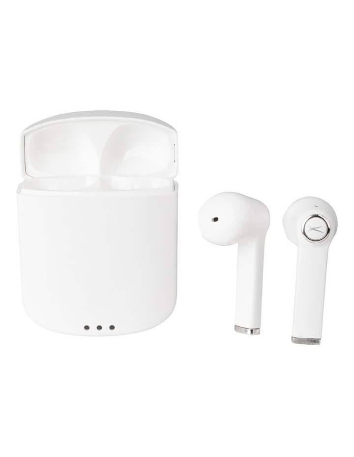 True Air Wireless Earphones White - True Wireless Stereo Bluetooth Earphones MZX634-WHT image 1