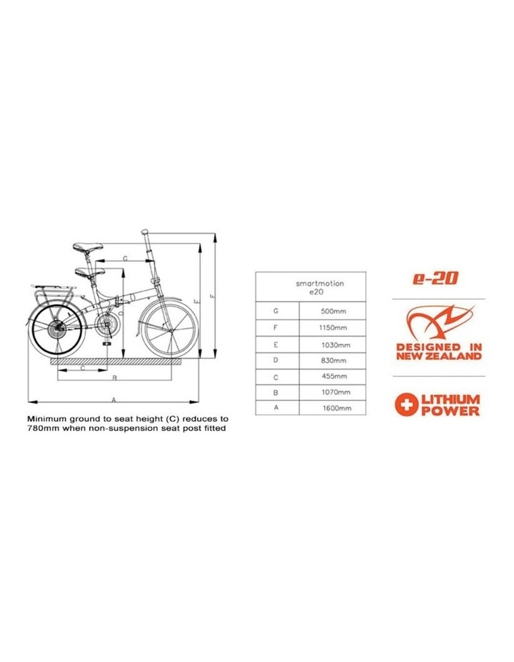 SmartMotion E-20 Foldable Bike - Red image 3