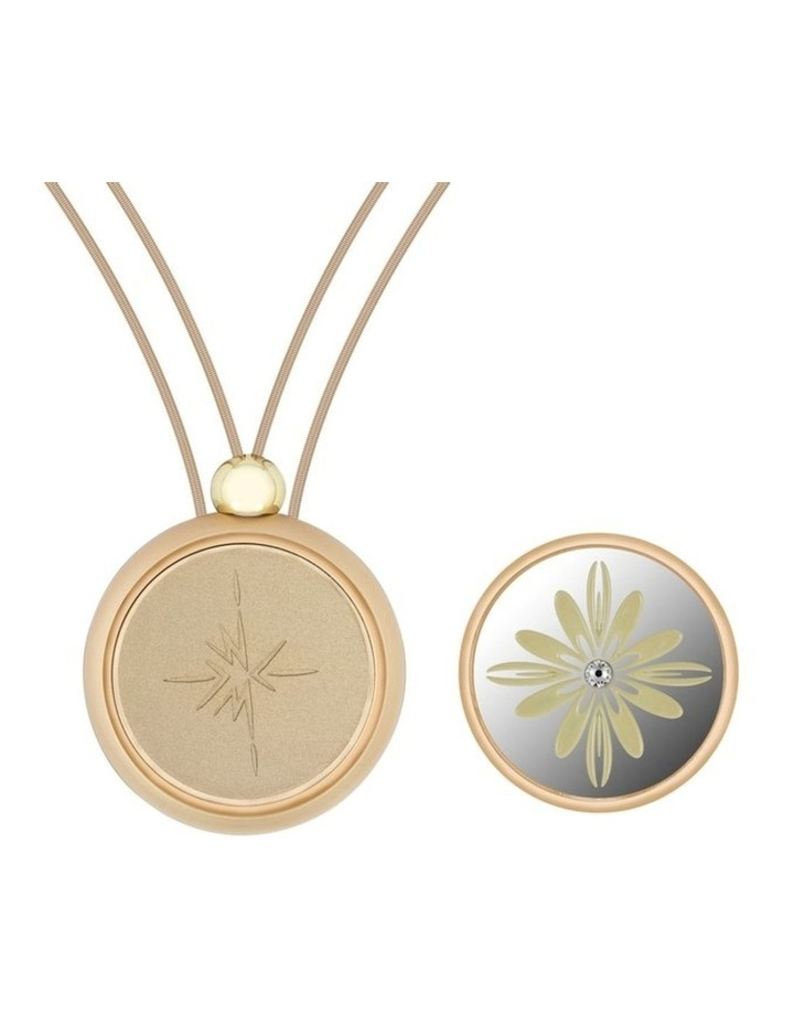 Emmesphere Sound Necklace - Silver + Qliq Filigree Daffodil - Gold image 1