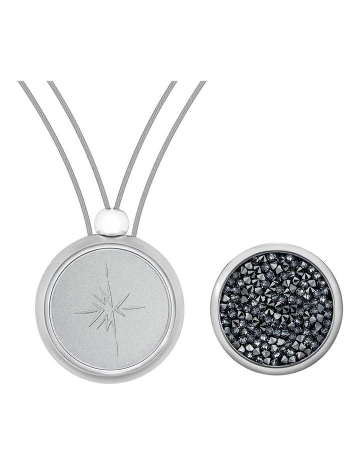 Emmesphere Sound Necklace - Silver & Qliq Crystaline Volcanic Ash - Silver image 1
