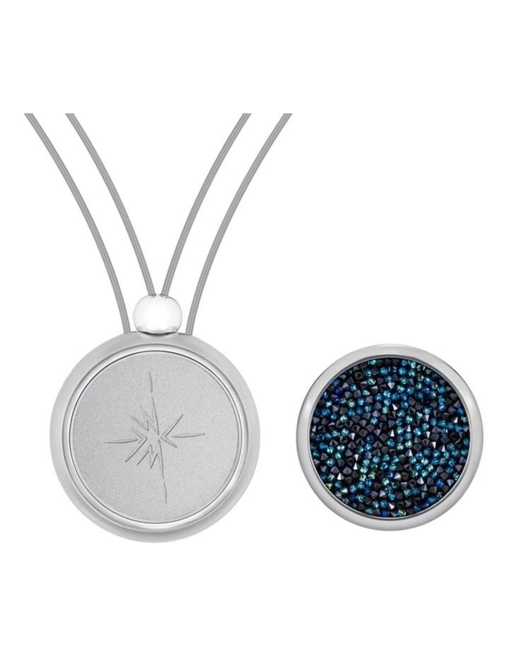 Emmesphere Sound Necklace - Silver & Qliq Crystaline Starry Night - Silver image 1
