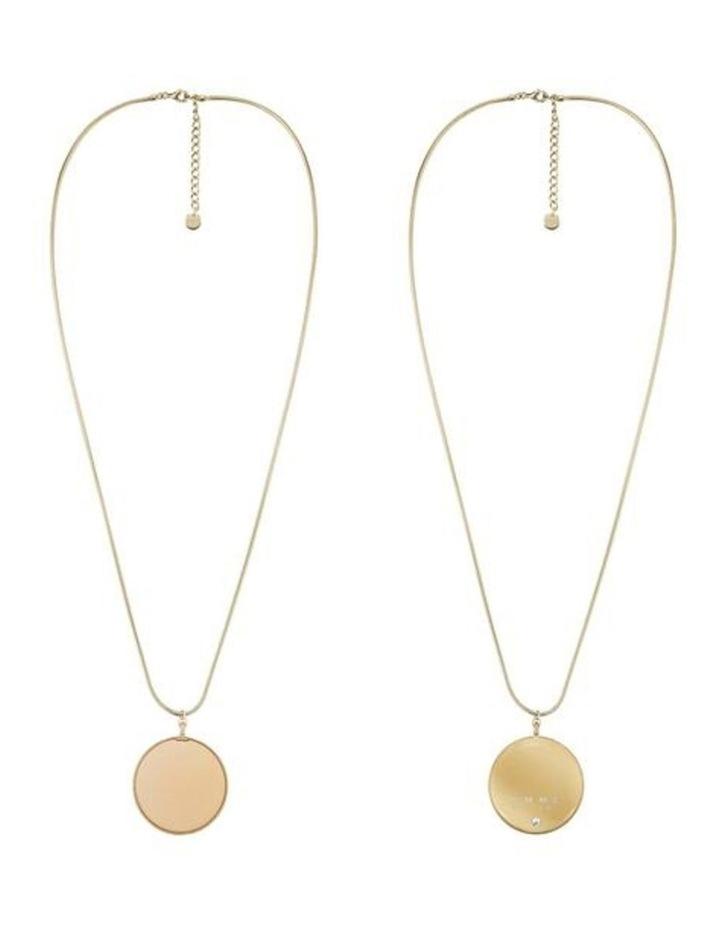 Hemisphere Necklace  Gold image 2