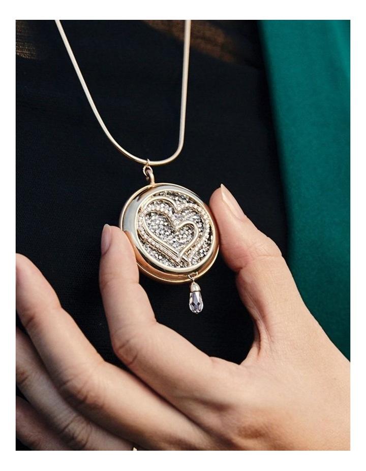 Hemisphere Necklace  Gold image 3