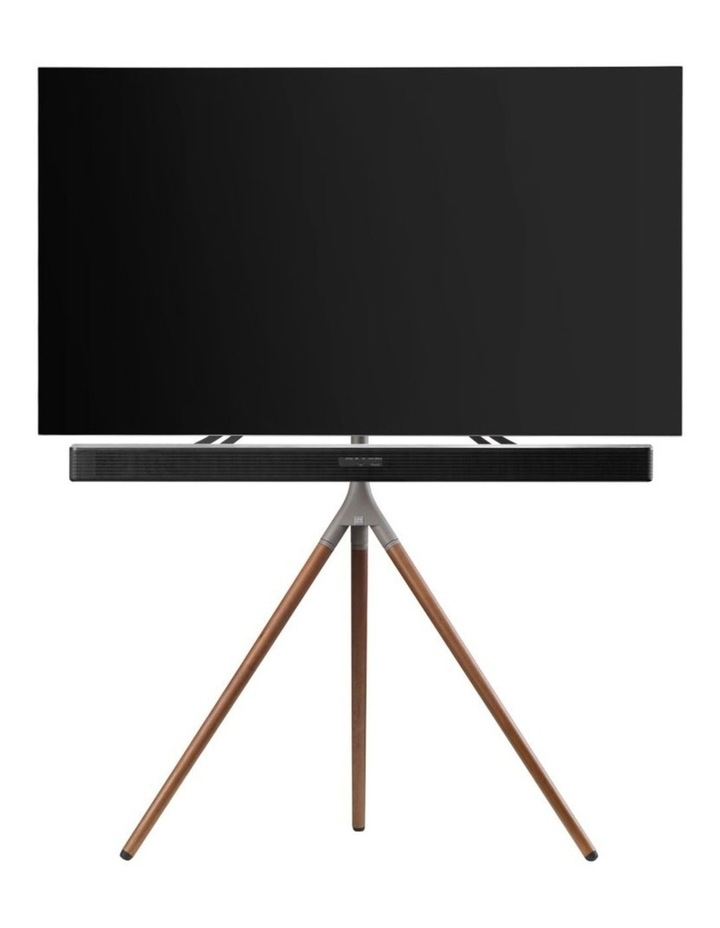 Tripod Universal TV Stand in Walnut/Gunmetal image 1
