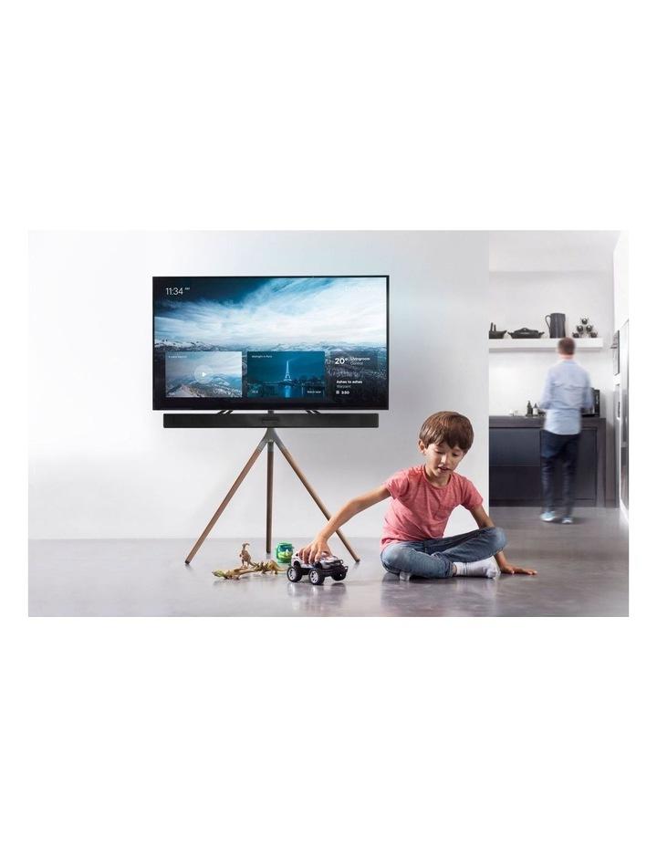 Tripod Universal TV Stand in Walnut/Gunmetal image 5