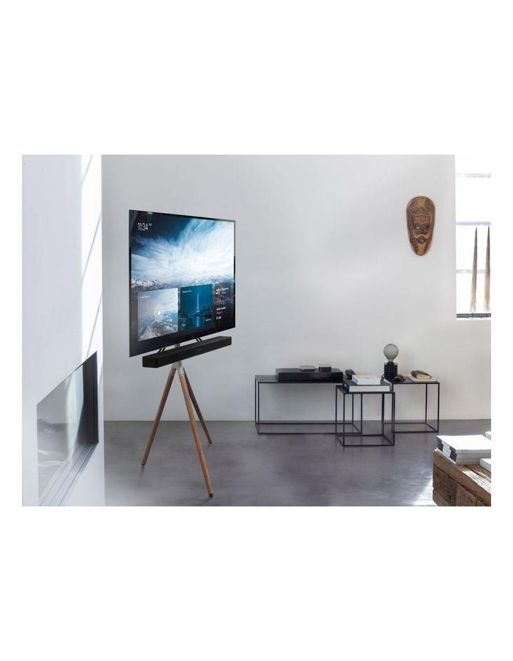 OneForAll Tripod Universal TV Stand - Oak/Silver image 4