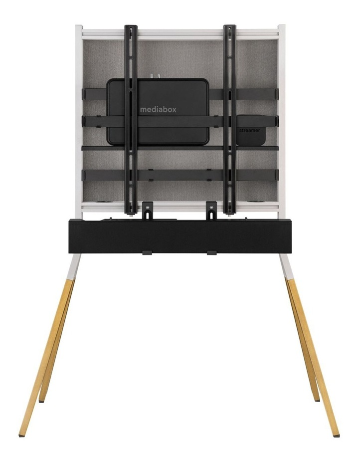 OneForAll Falcon Universal TV Stand - Oak/Silver image 4