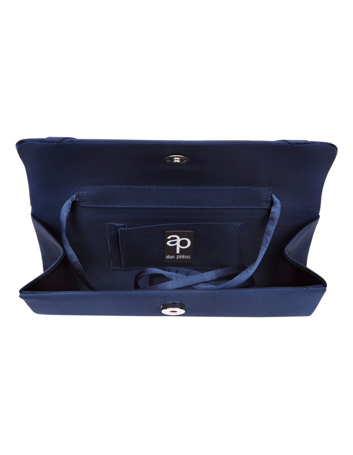 Lacy Navy Satin Bag image 3