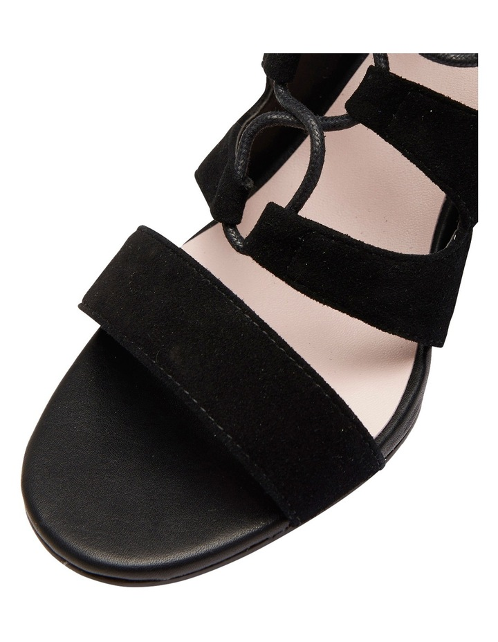 Pink Inc Dragon Black Suede Sandal image 4