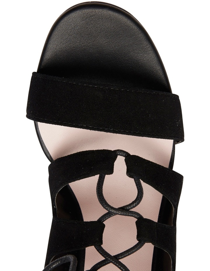 Pink Inc Dragon Black Suede Sandal image 8