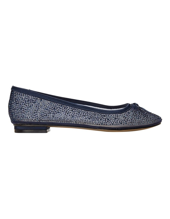 A.P.Too Twinkle Navy Silk Pump image 1