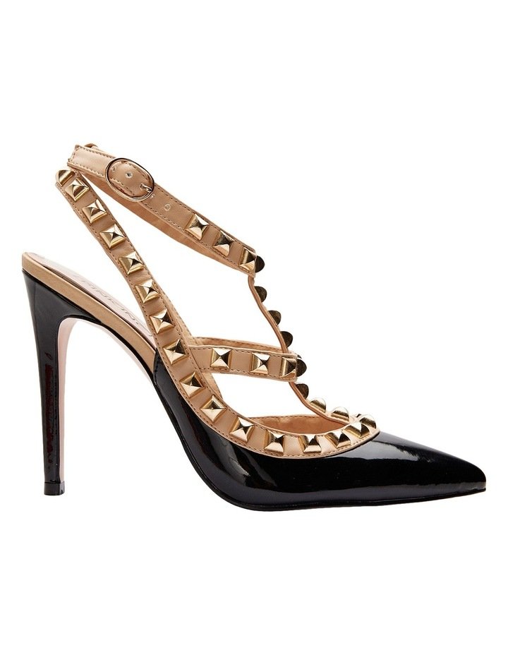 Pink Inc Saint Black Patent/Nude Pump image 1