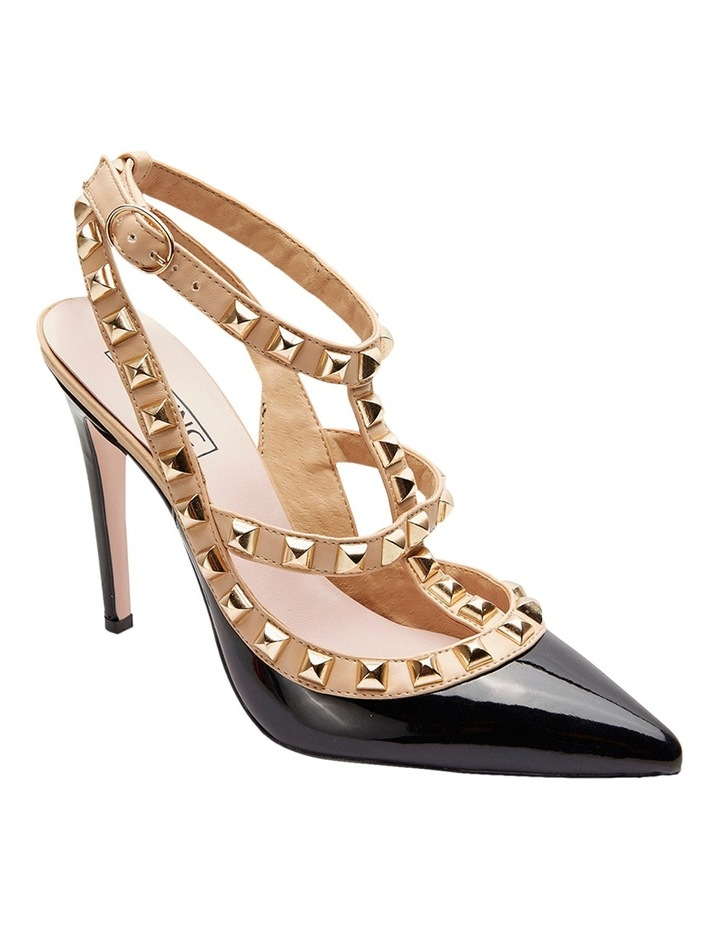 Pink Inc Saint Black Patent/Nude Pump image 2