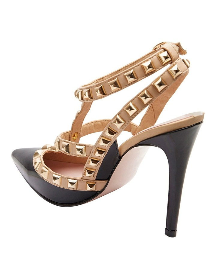 Pink Inc Saint Black Patent/Nude Pump image 3