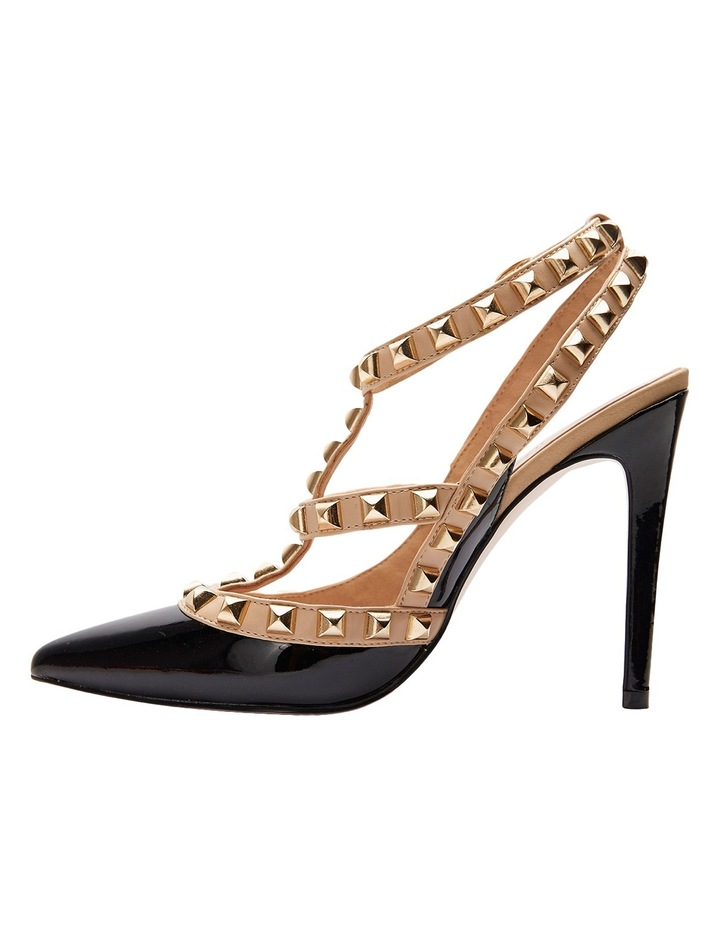Pink Inc Saint Black Patent/Nude Pump image 5