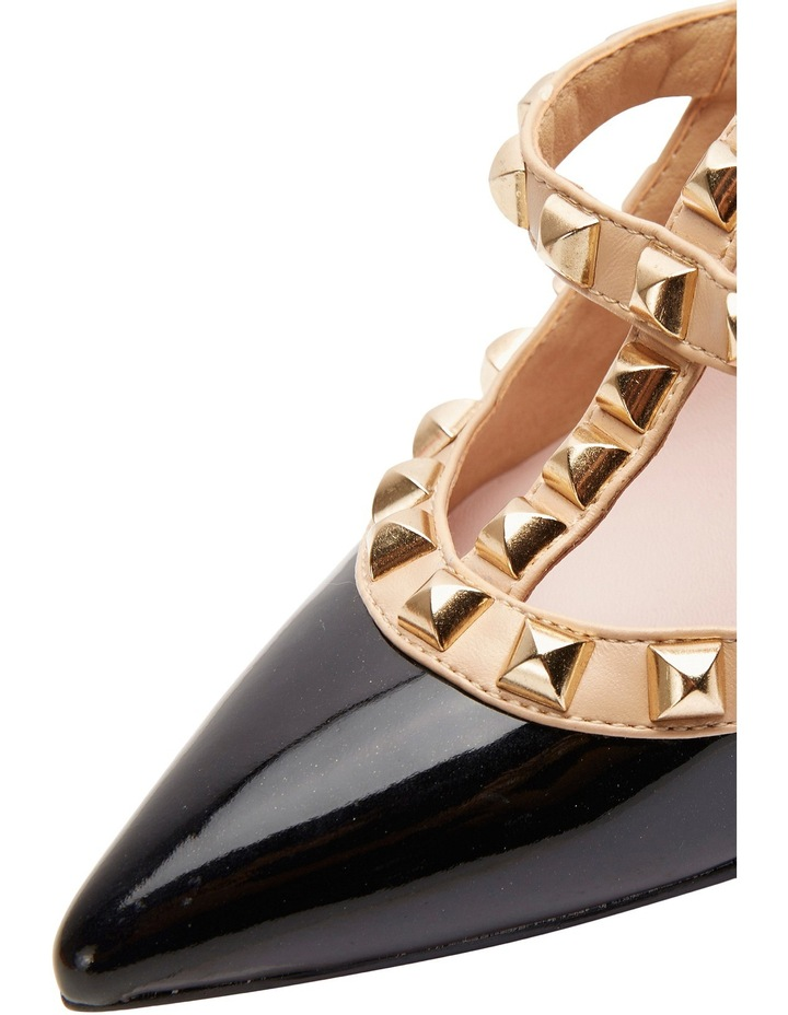 Pink Inc Saint Black Patent/Nude Pump image 6