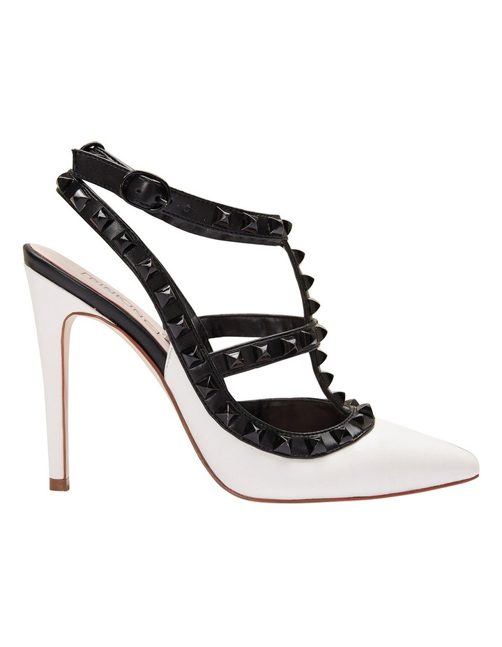 Pink Inc Saint White/Black Pump image 1