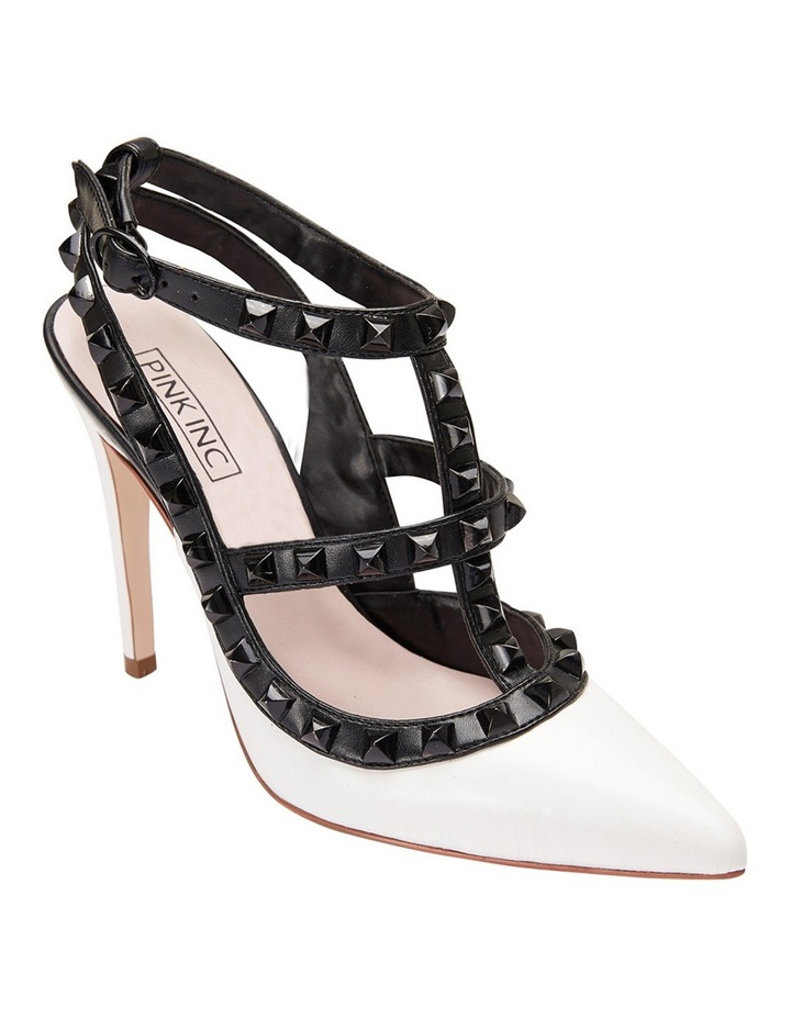 Pink Inc Saint White/Black Pump image 2