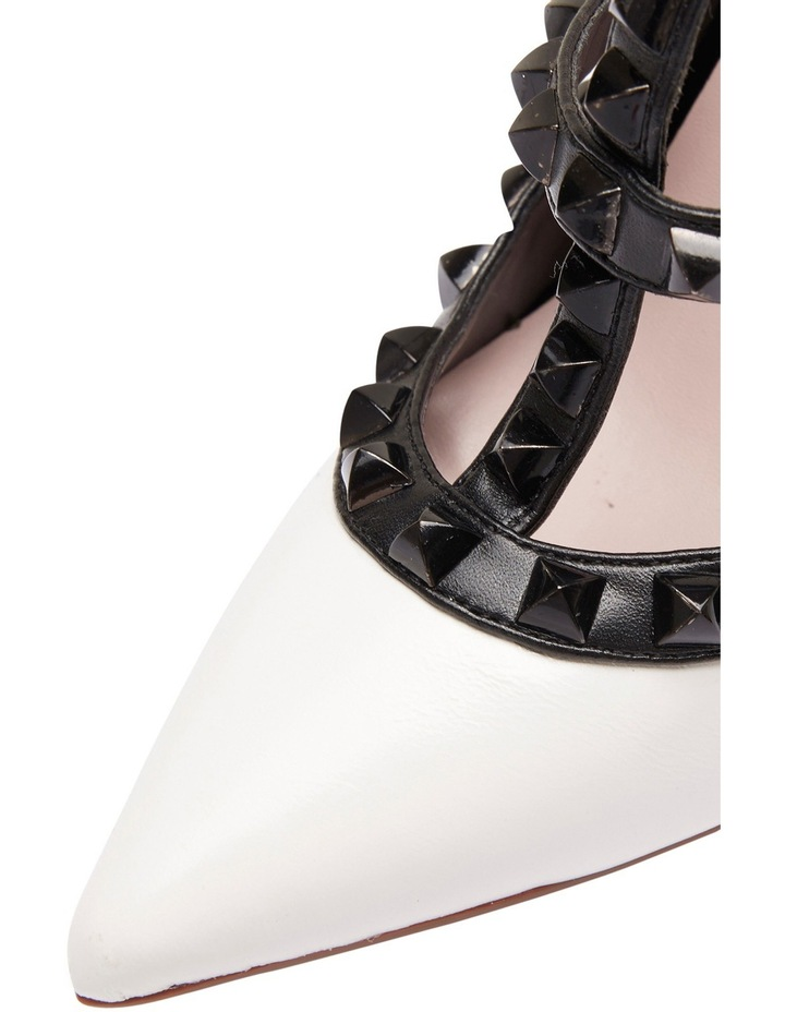 Pink Inc Saint White/Black Pump image 4