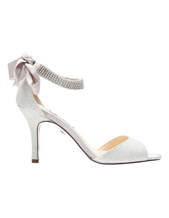 Nina Vinnie Silver Bliss Satin Sandal image 1