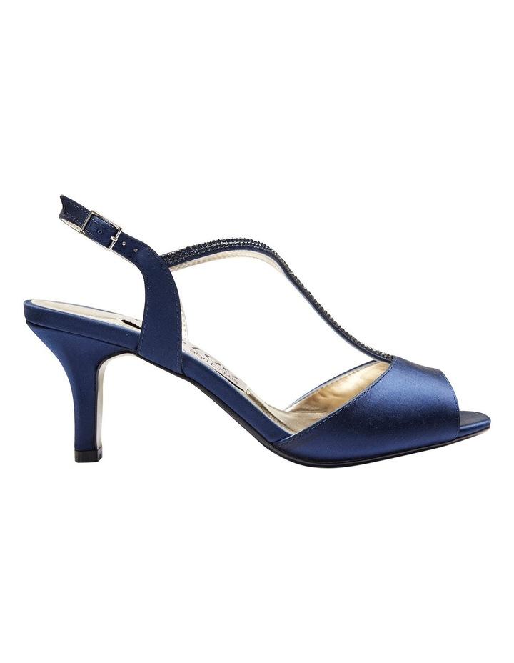 Delicia Bright Navy Satin Sandal image 1
