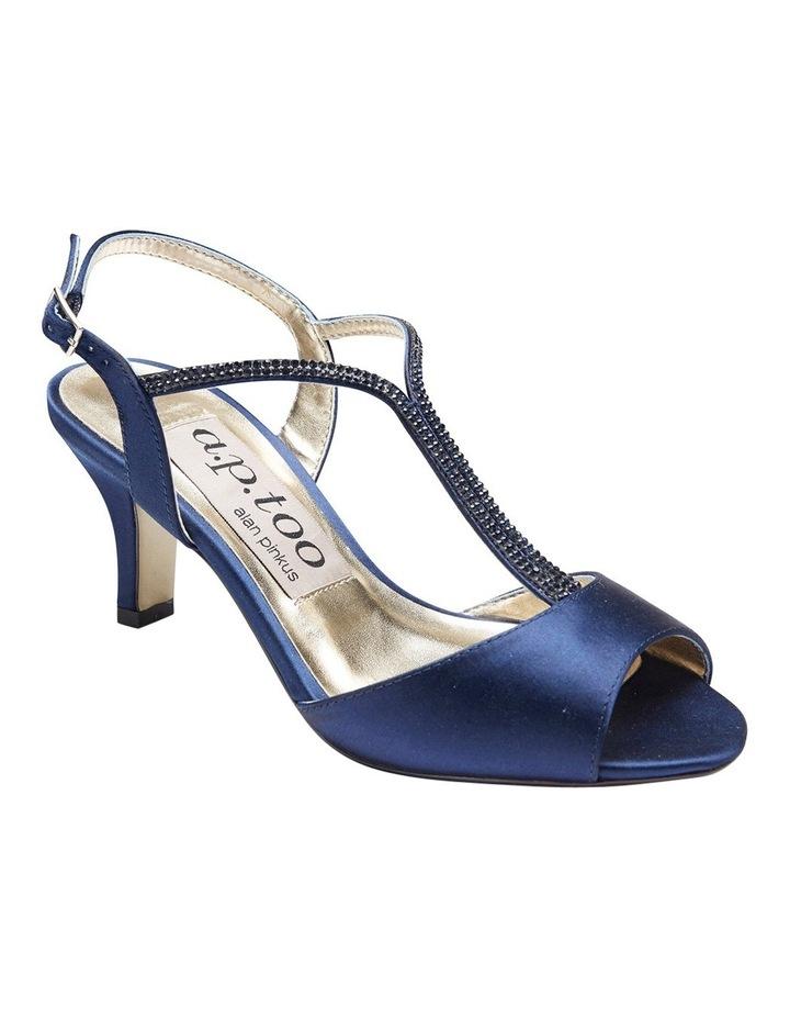 Delicia Bright Navy Satin Sandal image 2
