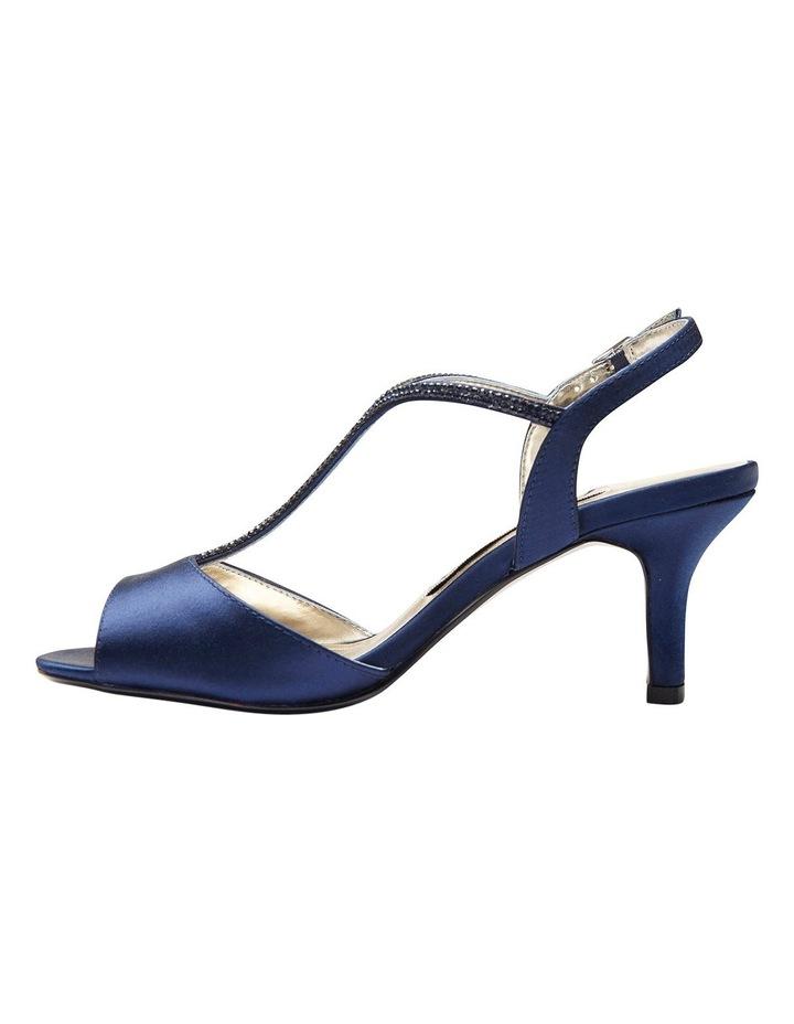 Delicia Bright Navy Satin Sandal image 3