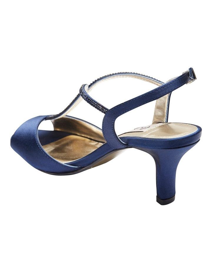 Delicia Bright Navy Satin Sandal image 4